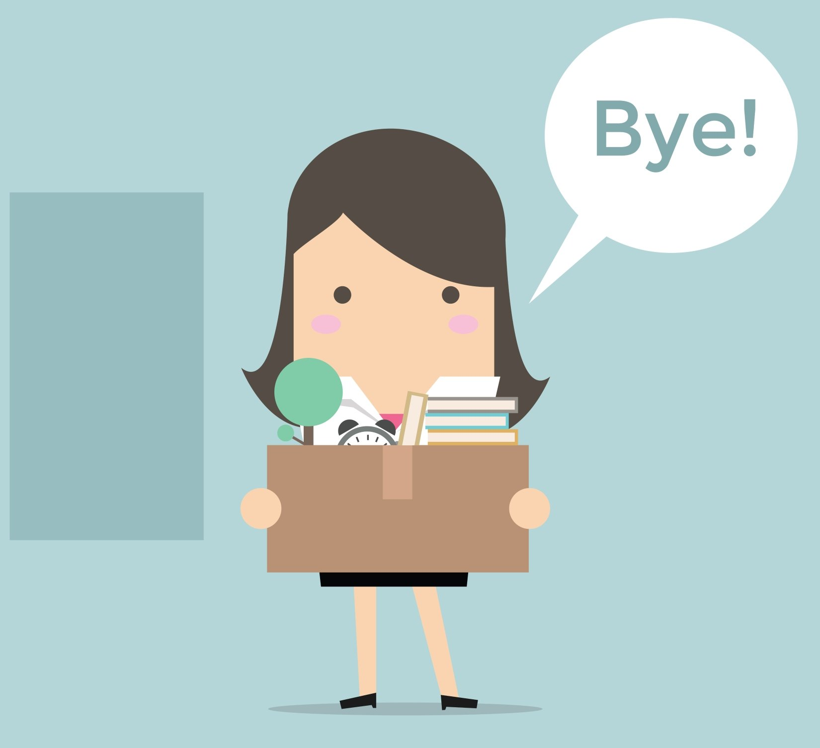 woman quitting job