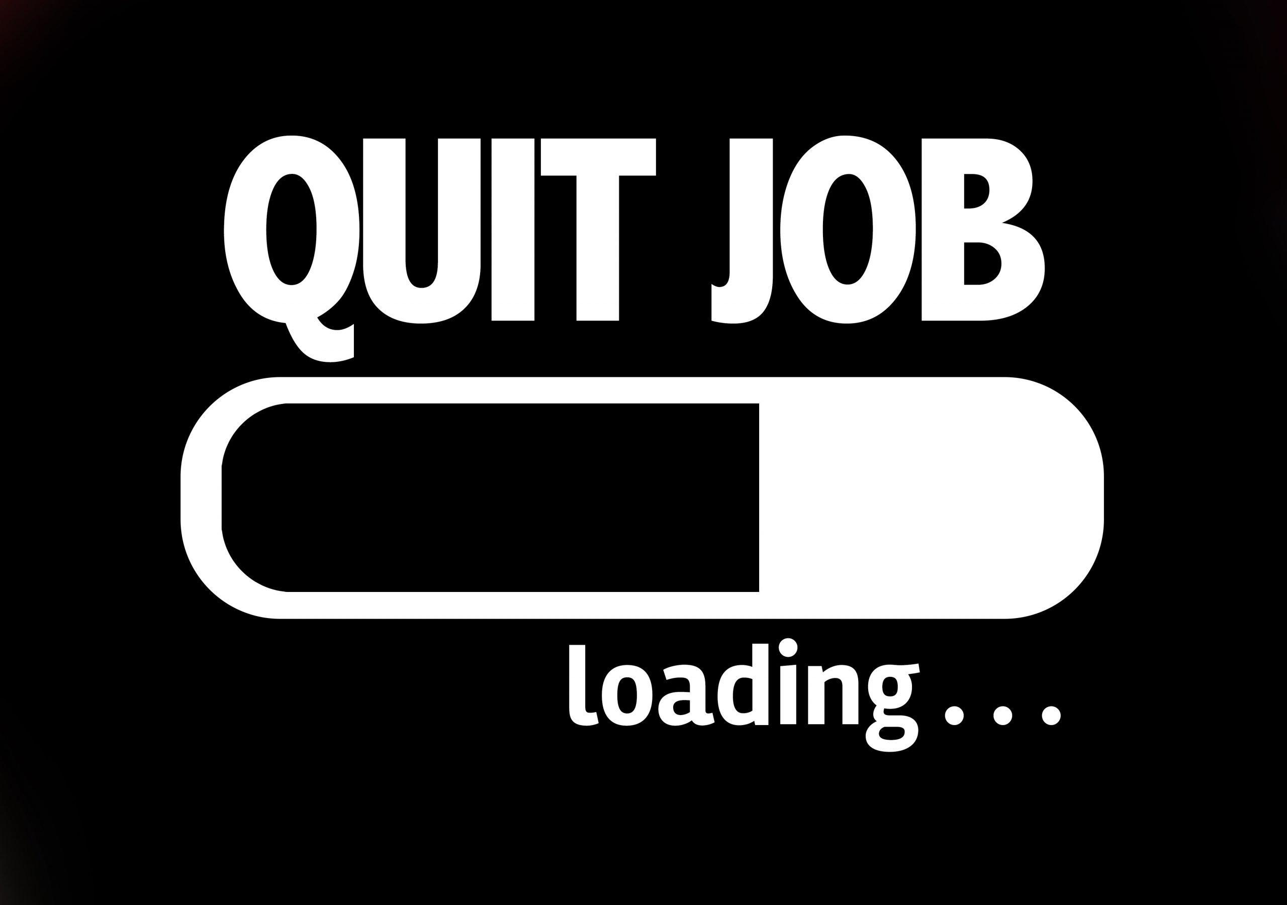 quit job loading indicator