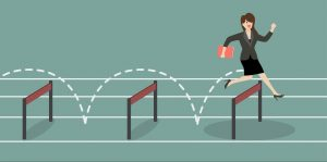 woman overcoming hurdles objections